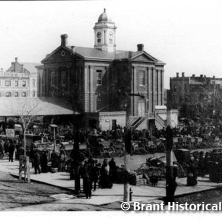 Market Square and City Hall c. 1885