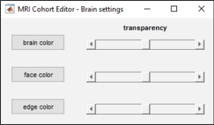 Figure 12: Brain settings.