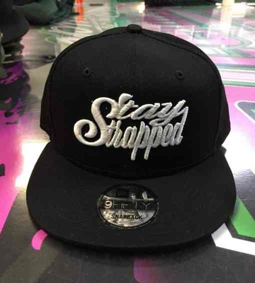 Stay Strapped Black Snapback