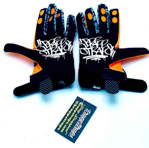 Orange Crush MX Glove by Brapp Straps