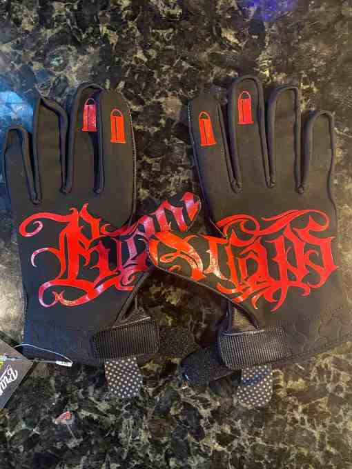 Never Rat (Black) MX Gloves MX Gloves by Brapp Straps
