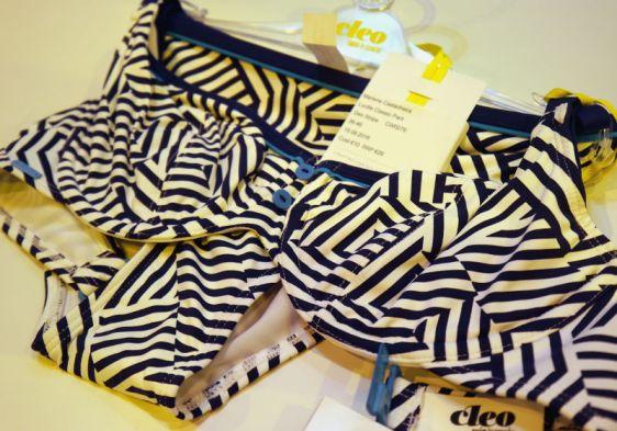 Cleo Swim Lucille in Geo Stripe (Cleo Swim AW16)
