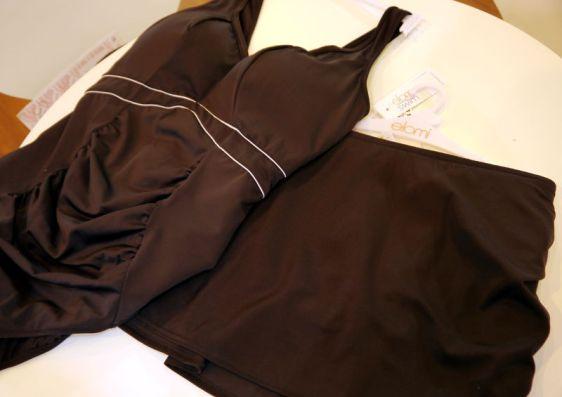 Elomi Swim Essentials Control Suit and Skirted Brief in Black (Elomi Swim AW16)