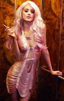 Made By Niki String Fringe Mini Dress in Pink