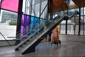 Stainless Steel & Glass Staircase