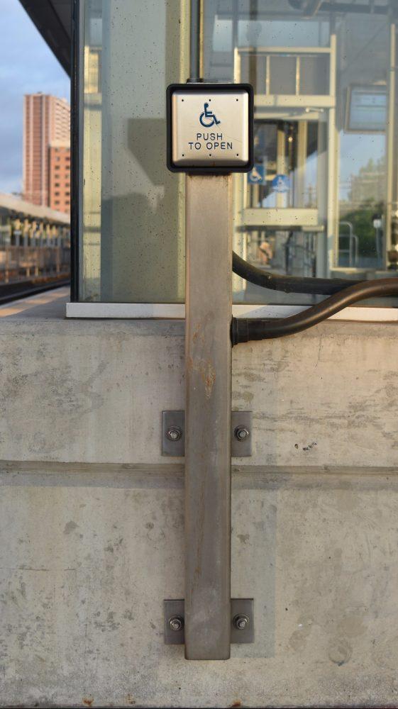 Handicap Push Button Post