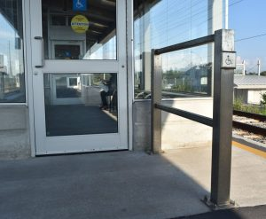 Handicap Push Button Door Entrance Rail