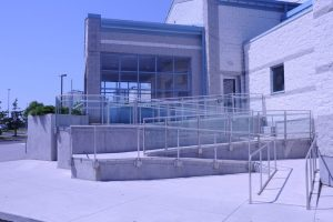 Glass & Stainless Steel Guardrails Ramp Application