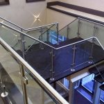 Staircase Showcasing Glass Clips