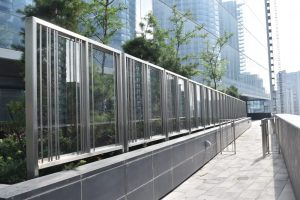 Glass & Stainless Steel Windscreen