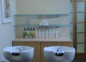 Tempered, Frosted Glass & Stainless Steel Shelving Unit