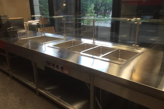 Stainless Steel Hot Table w/ Sneeze Guards
