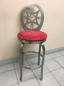 Laser Cut Stainless Steel Stool w/ Upholstery