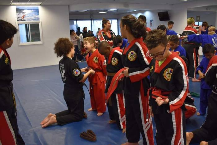 It's an Exciting Day to Level Up at Choe's HapKiDo Martial Arts Flowery Branch!