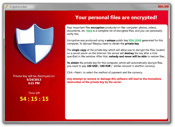 Are You Under Attack by CryptoLocker?