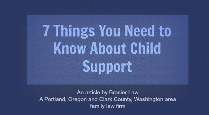 7 Things You Need to Know About Child Support