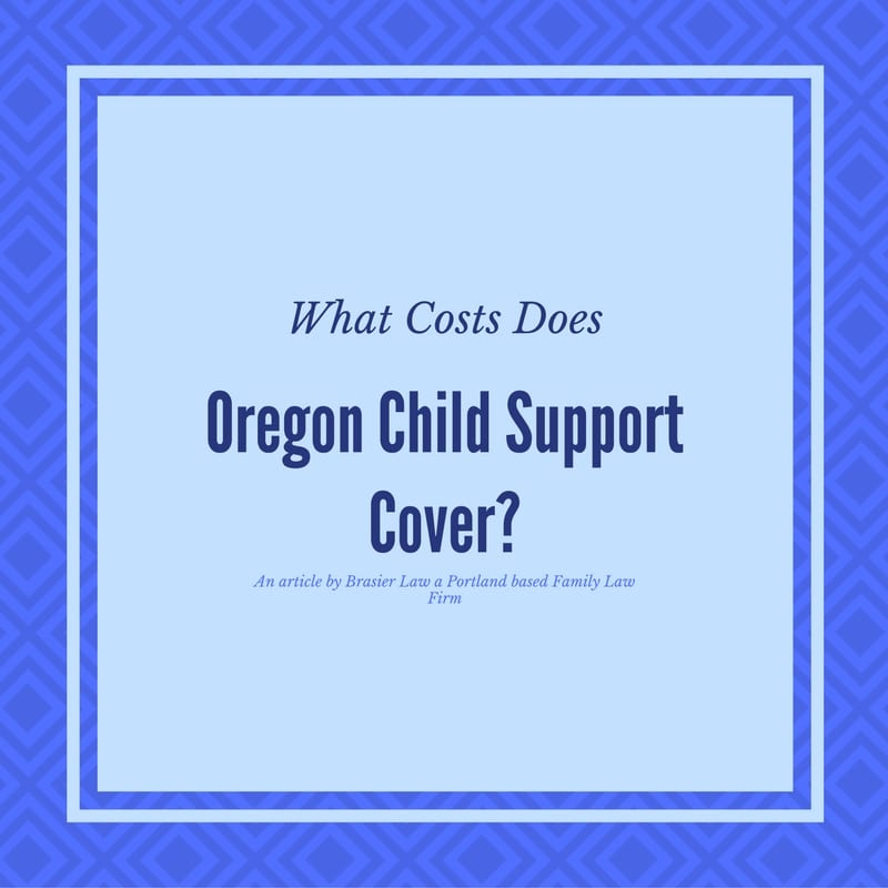 What Exactly Does Oregon Child Support Cover?