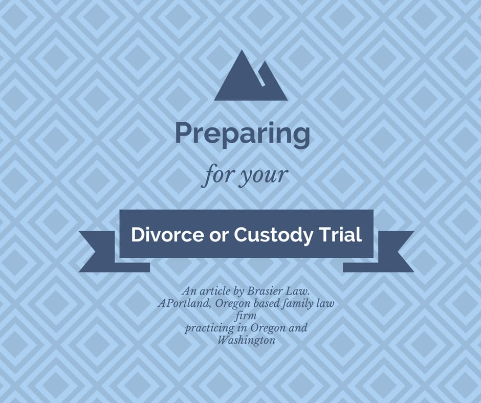Preparing for Trial in Your Divorce or Custody Case