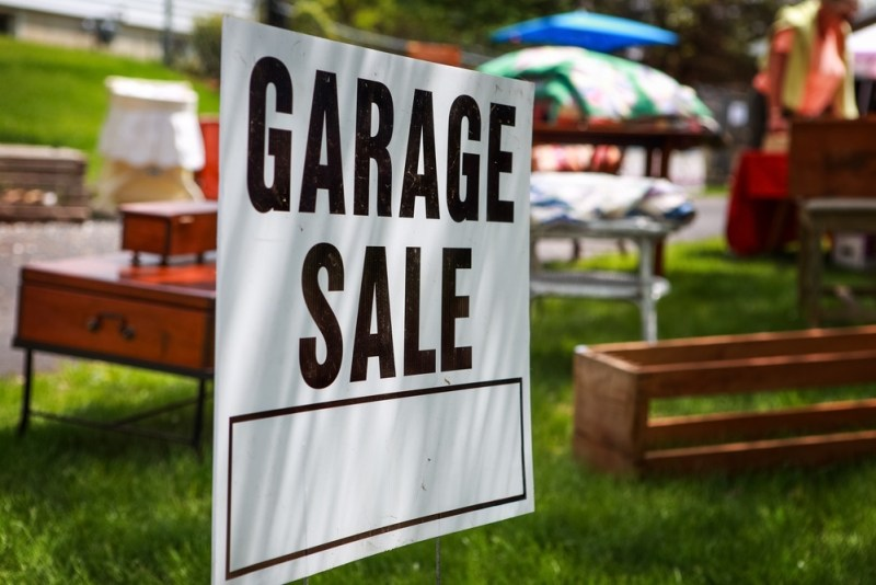 We could have a garage sale