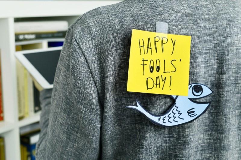 Uma pegadinha típica do April Fools' Day.