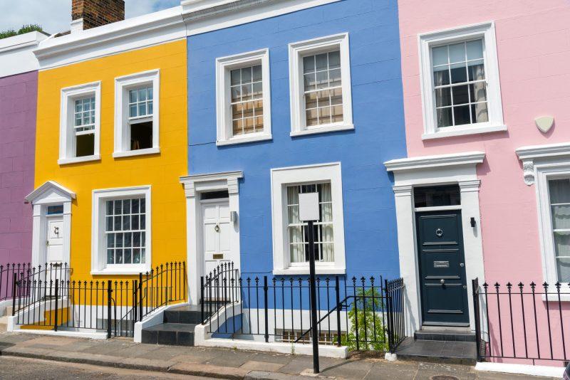 casas com cores em ingles