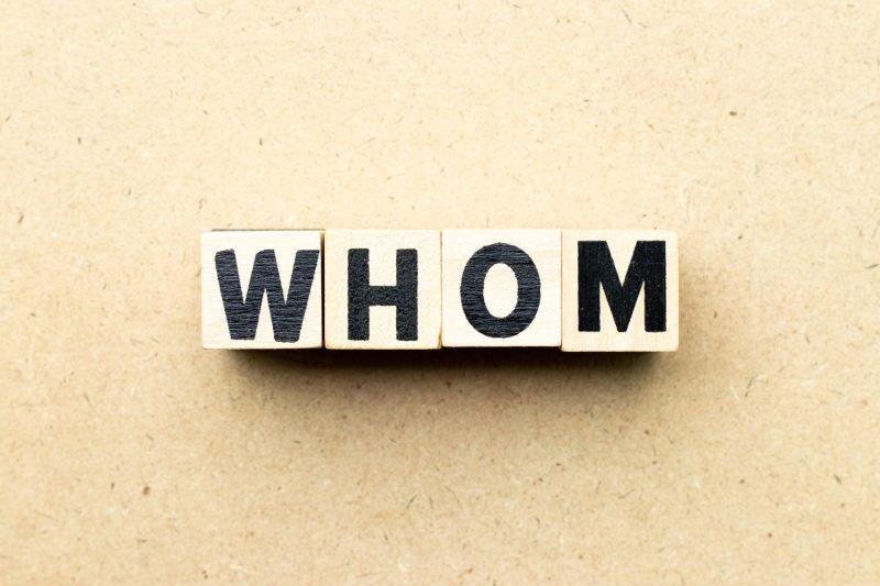 Pronome Interrogativo em Inglês: whom