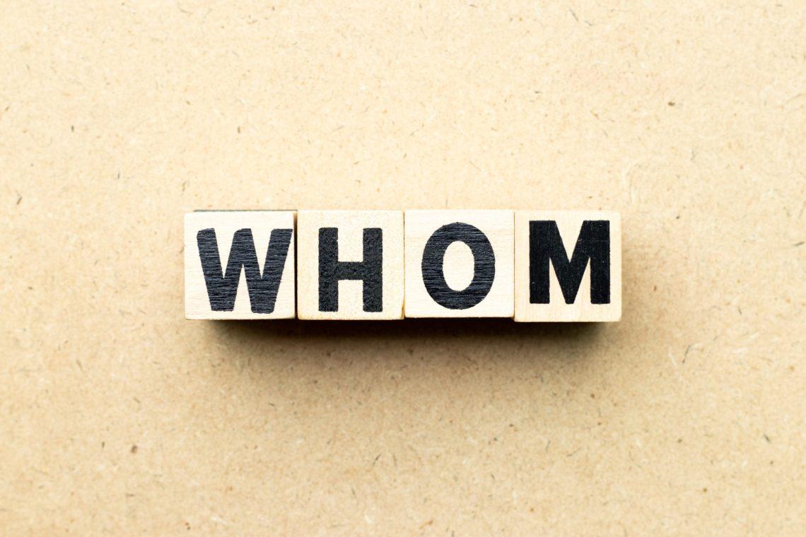 Pronombres interrogativos en inglés: whom