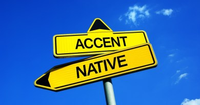 placa com accent native - reducao de sotaque em ingles