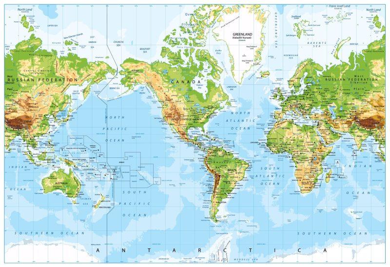 mapa e Termos sobre Geografia em ingles com cambly