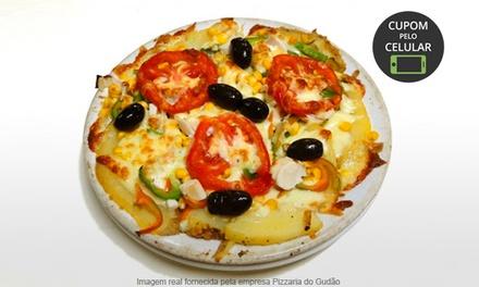Pizzaria do Gudão – Alípio de Melo: batata recheada para 2 ou 4 pessoas + 1 bebida para cada