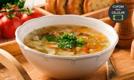 Ritorna Ristorante   Gramado: buffet de sopas + saladas + sobremesa para 1 ou 2 pessoas