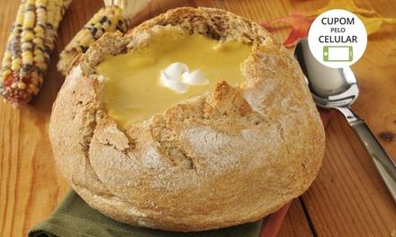 Trattoria de la Coperta   Gramado: sopa no pão para 1 pessoa