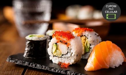 Combinado especial com 60 peças de sushi + refrigerante no Oyabun Sushi Bar – Jardim Botânico