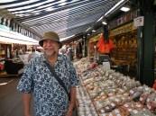 Mercado Central de Viena, Áustria, uma pesquisa sobre temperos.