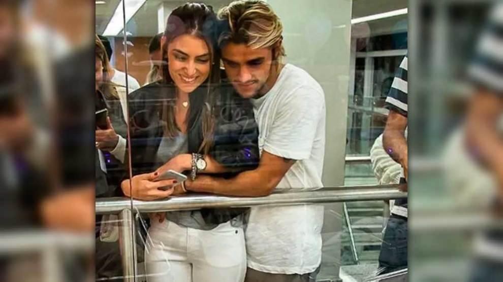 Felipe Simas e a mulher babam por Madalena, filha de Gissoni: 'admirando a pureza'