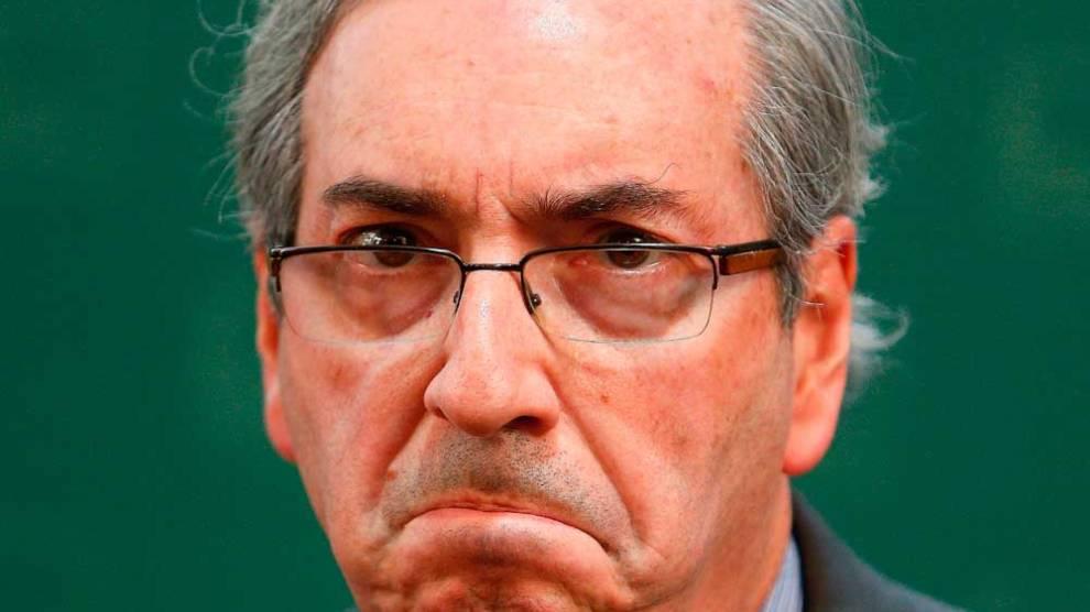 Eduardo Cunha chega a PF de Curitiba para depor em inquérito que investiga Michel Temer