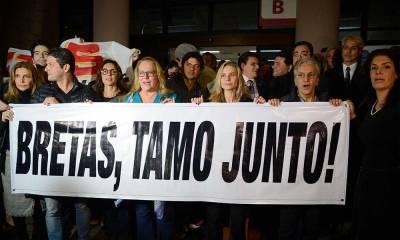 Juízes, procuradores e artistas fazem ato em apoio a Marcelo Bretas