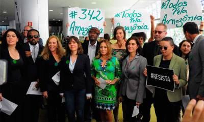 Todos pela Amazônia: artistas se reúnem com Maia e Eunício