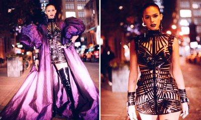 Bruna Marquezine coloca as pernas a mostra em Nova York