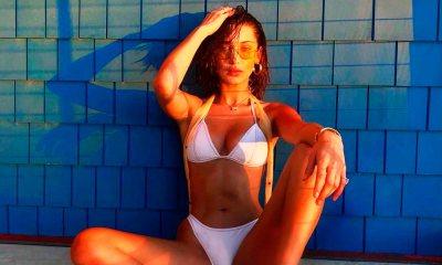 Praia urbana: Bella Hadid ousa em clique de biquíni