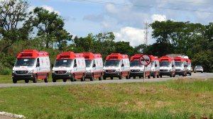 DF incorpora 23 novas ambulâncias do Samu