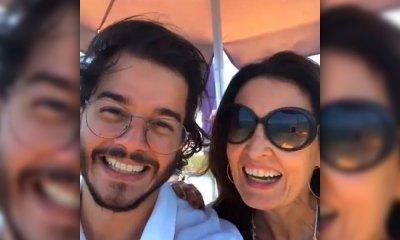 Fátima Bernardes e Túlio Gadelha curtem passeio romântico em Porto de Galinhas