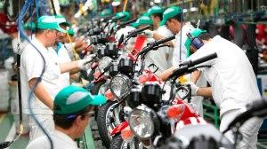 Produção de motos cresce 12,2% no primeiro trimestre, diz Abraciclo