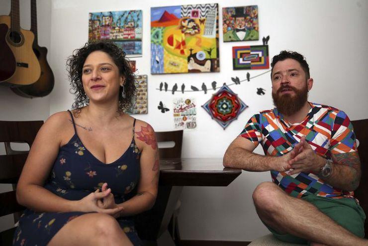 Sarita Bitu e Vernon Bitu. Foto: José Cruz/Agência Brasil
