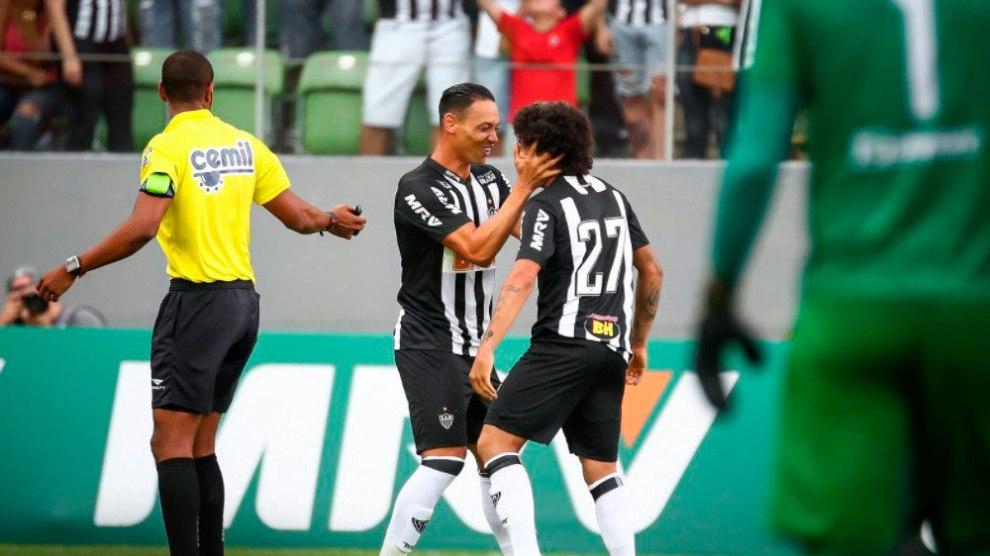 Ricardo Oliveira faz três gols, e Atlético atropela o Boa Esporte. Foto: Reprodução/Twitter