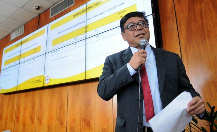 Secretário de Saúde Osnei Okumoto. Foto: Renato Alves/GDF
