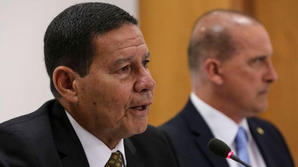 Mourão diz que reforma da Previdência segue este mês para o Congresso. Foto: Marcos Corrêa/PR
