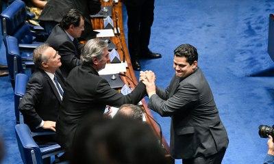 Davi Alcolumbre é eleito novo presidente do Senado. Foto: Edilson Rodrigues/Agência Senado
