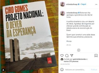 Orlando Silva defende Ciro Gomes