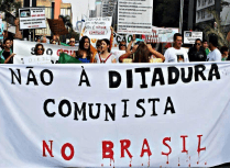 """No to the Communist Dictatorship in Brazil"""
